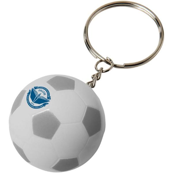 """Llavero balón de fútbol """"Striker"""" - Plateado / Blanco"""