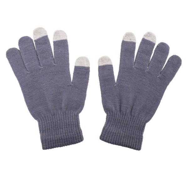 Rękawiczki Touch Control do urządzeń sterowanych dotykowo - Szary