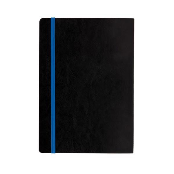 Poznámkový blok s měkkou vazbou a barevnými okraji - Modrá