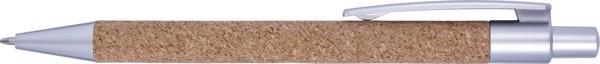 Kugelschreiber 'Alentejo' aus Kork - Silver