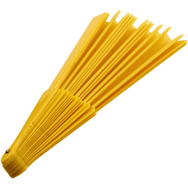 Maestral faltbarer Handfächer in Papierbox - Gelb