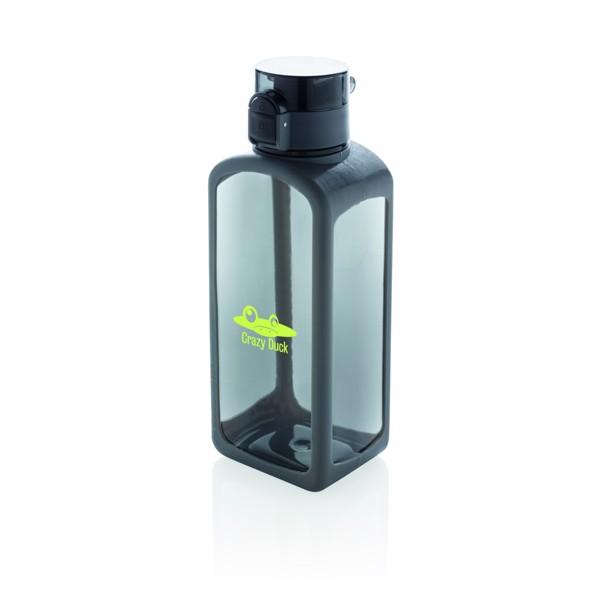 Nepropustná tritanová láhev Squared s uzamykatelným víčkem - Černá