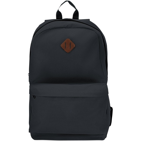 "Stratta 15"" laptop backpack - Solid black"