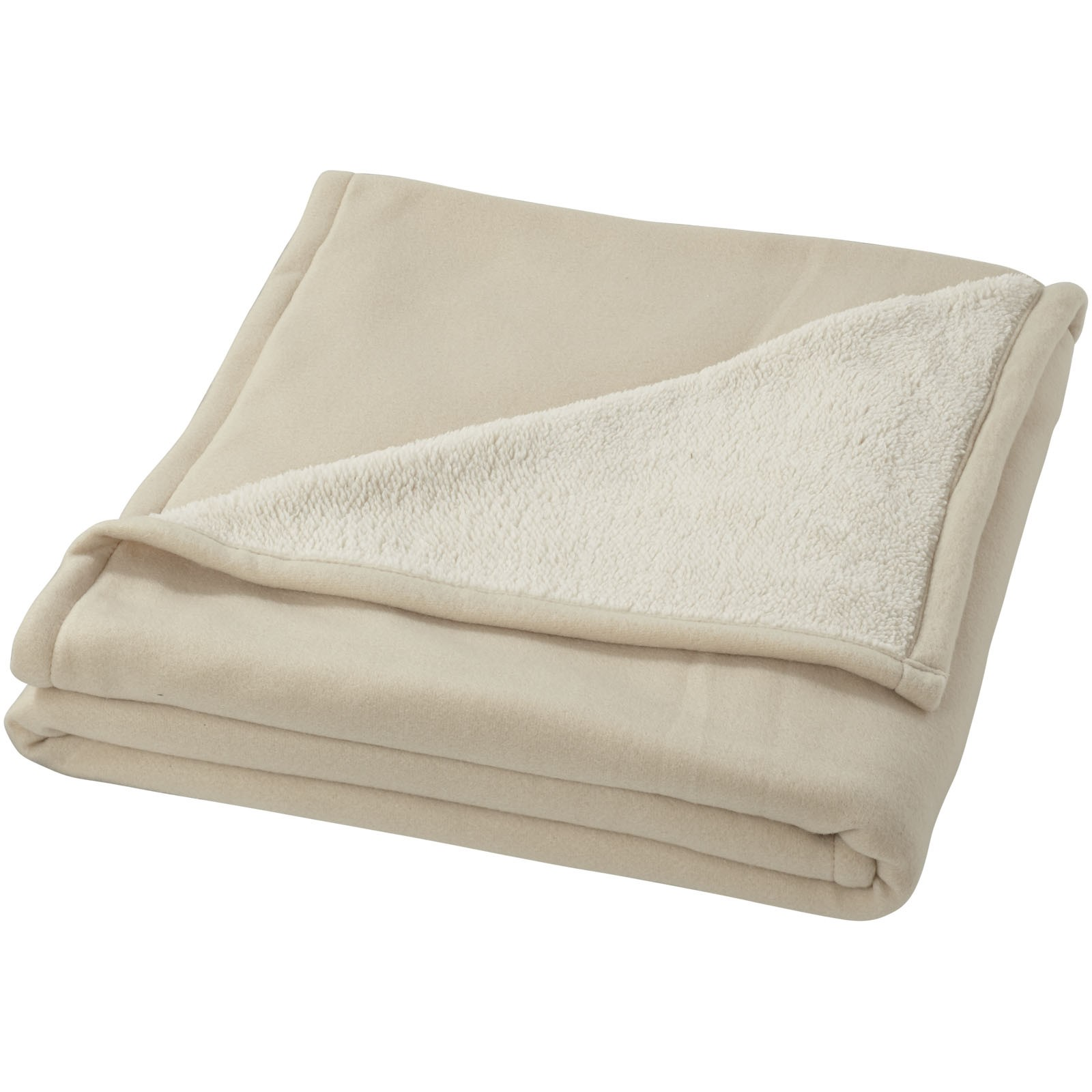 Springwood soft fleece and sherpa plaid blanket - Off white