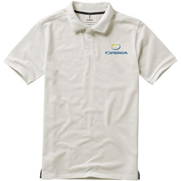 Calgary short sleeve men's polo - Light grey / S