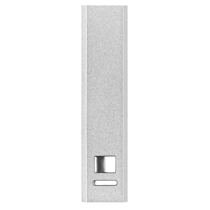 Powerbank w aluminium Poweralu - srebrny mat