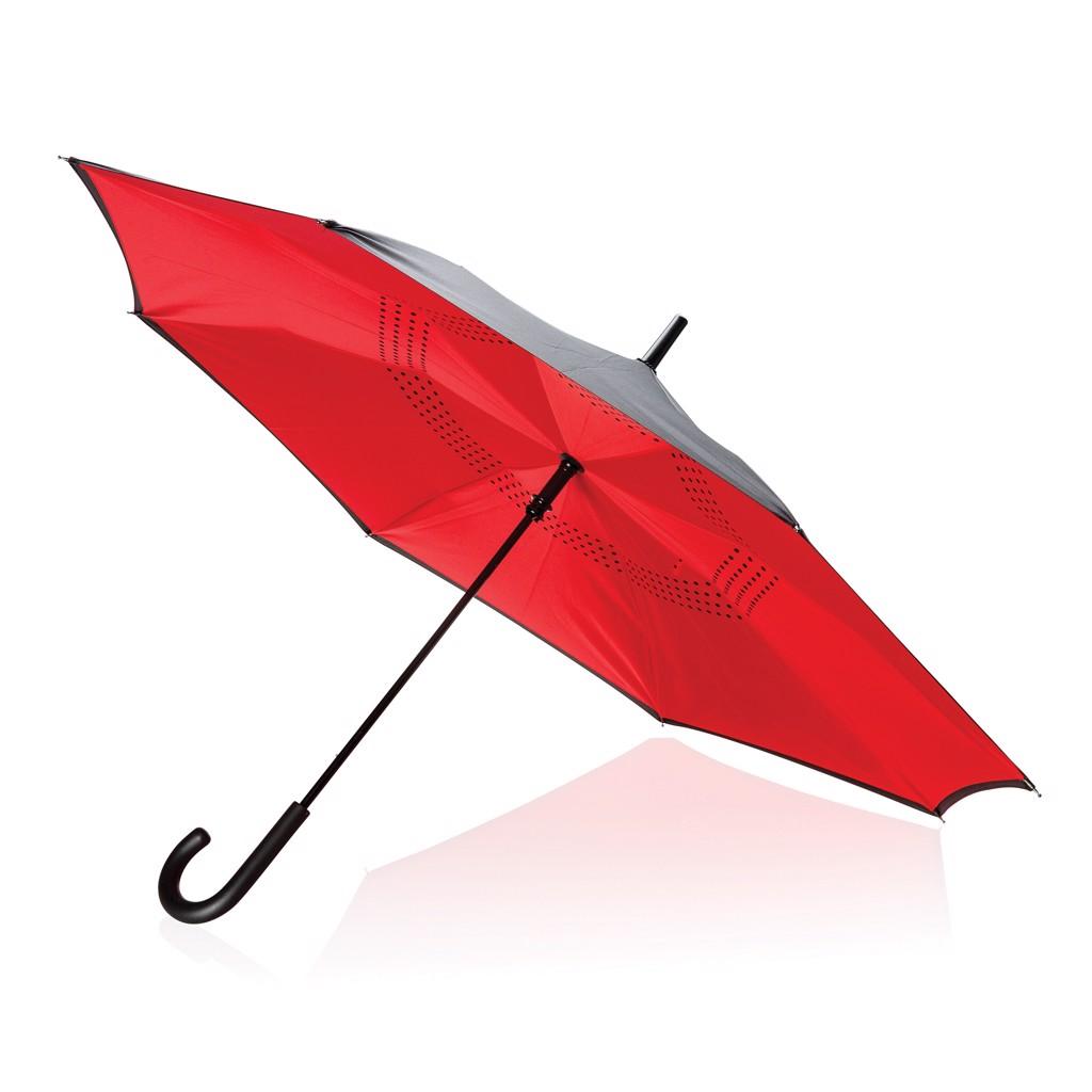"""23"""" manuální reverzní deštník - Červená"""