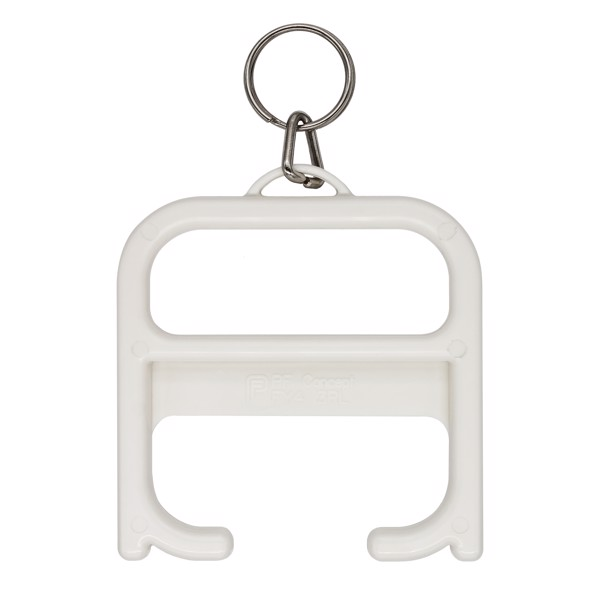 Hygiene handle with keychain - White