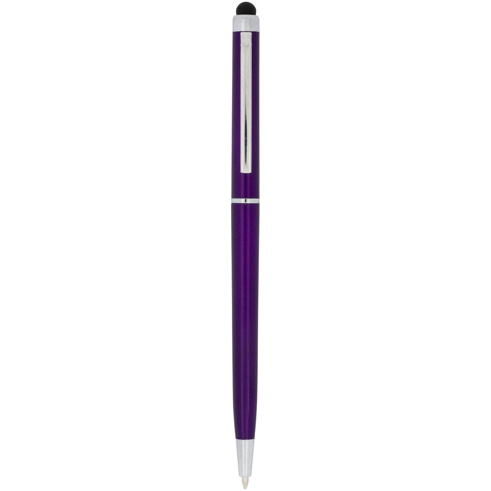 Kuličkové pero a stylus Valeria z ABS plastu - Purpurová