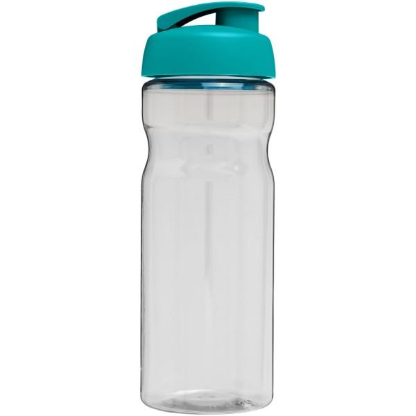 Sportovní láhev s vyklápěcím víčkem H2O Base® 650 ml - Průhledná / Aqua blue