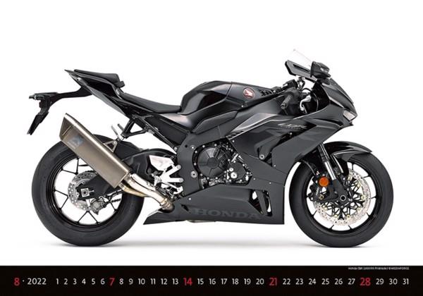 Měsíční kalendář Motorbikes 2022