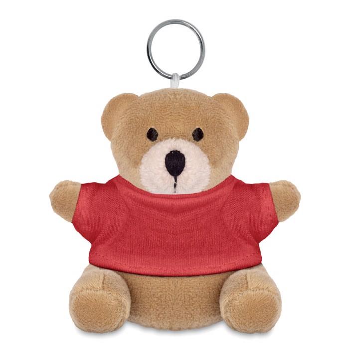 Teddy bear key ring Nil - Red
