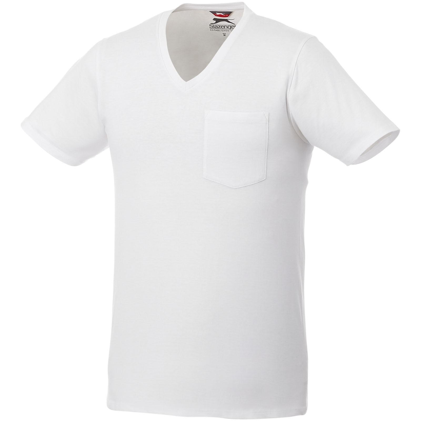Gully pánské pocket tričko s krátkým rukávem - Bílá / XS