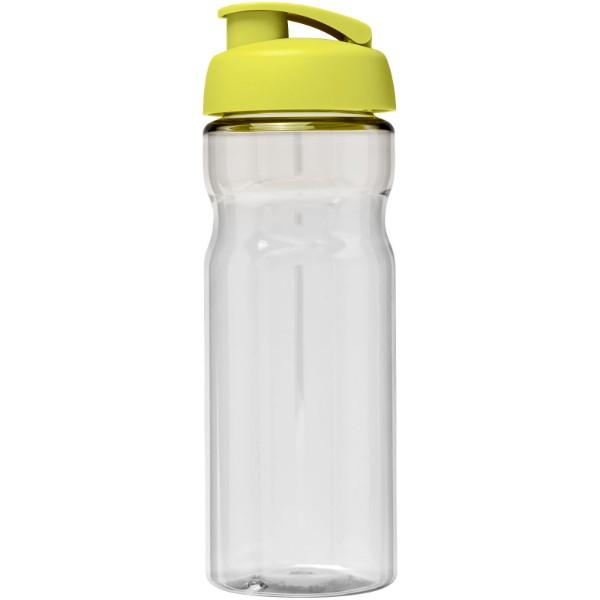 Sportovní láhev s vyklápěcím víčkem H2O Base® 650 ml - Průhledná / Limetka