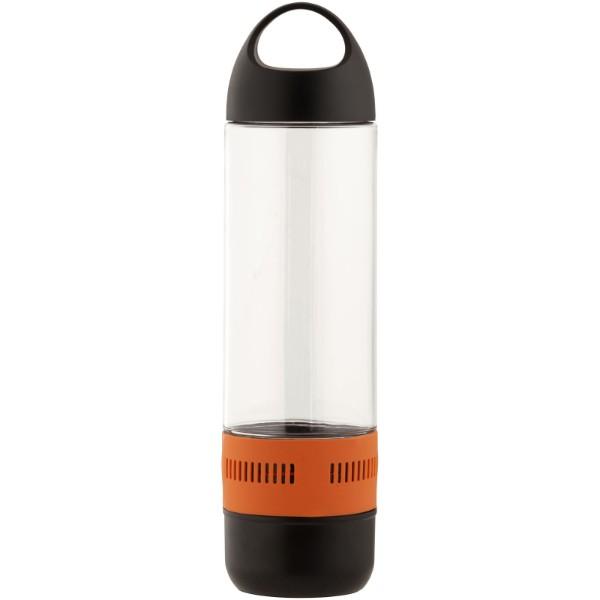 Ace 500 ml sports bottle with Bluetooth® speaker - Orange