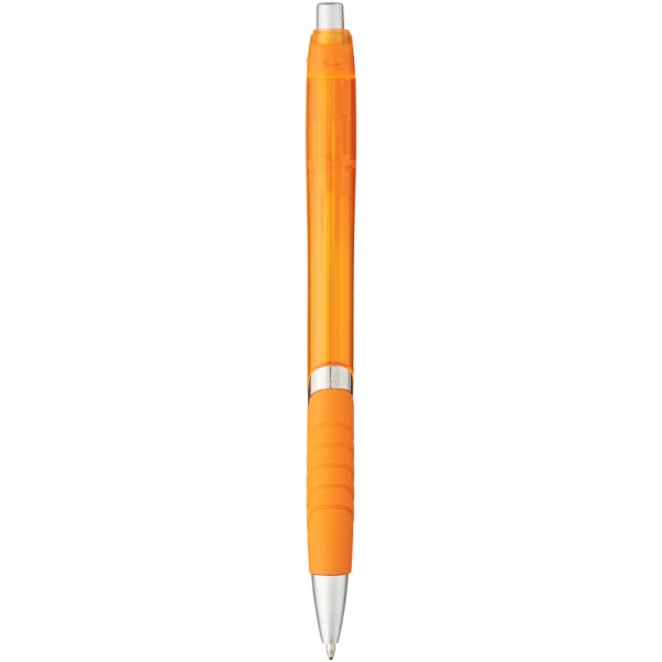 Turbo ballpoint pen with rubber grip - Orange
