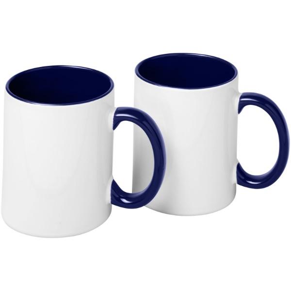 Ceramic sublimation mug 2-pieces gift set - Blue
