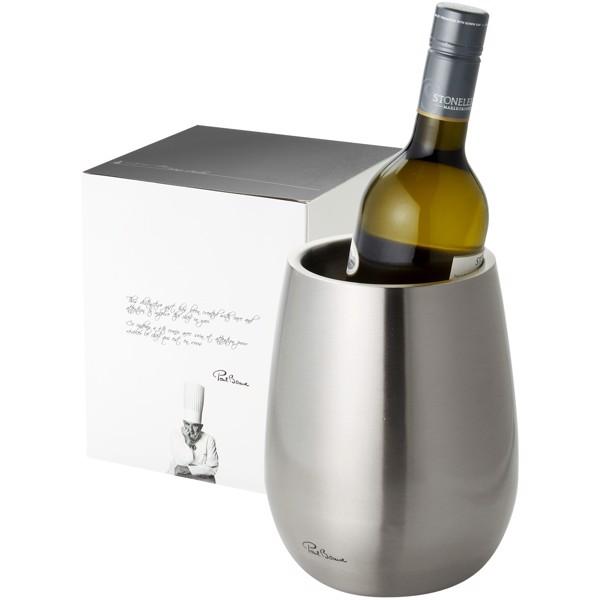 Cooler do wina Coulan ze stali nierdzewnej z podwójnymi ściankami - Srebrny