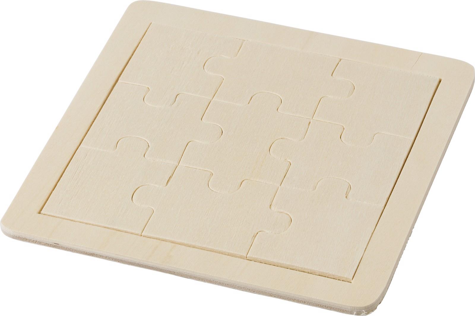Puzzle de madera con 9 piezas