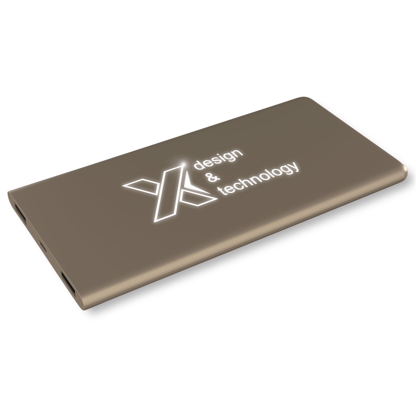 SCX.design P15 light-up 5000 mAh powerbank - Gold / Weiss