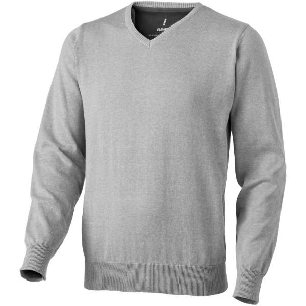 Spruce V-neck pullover - Grey melange / XXL