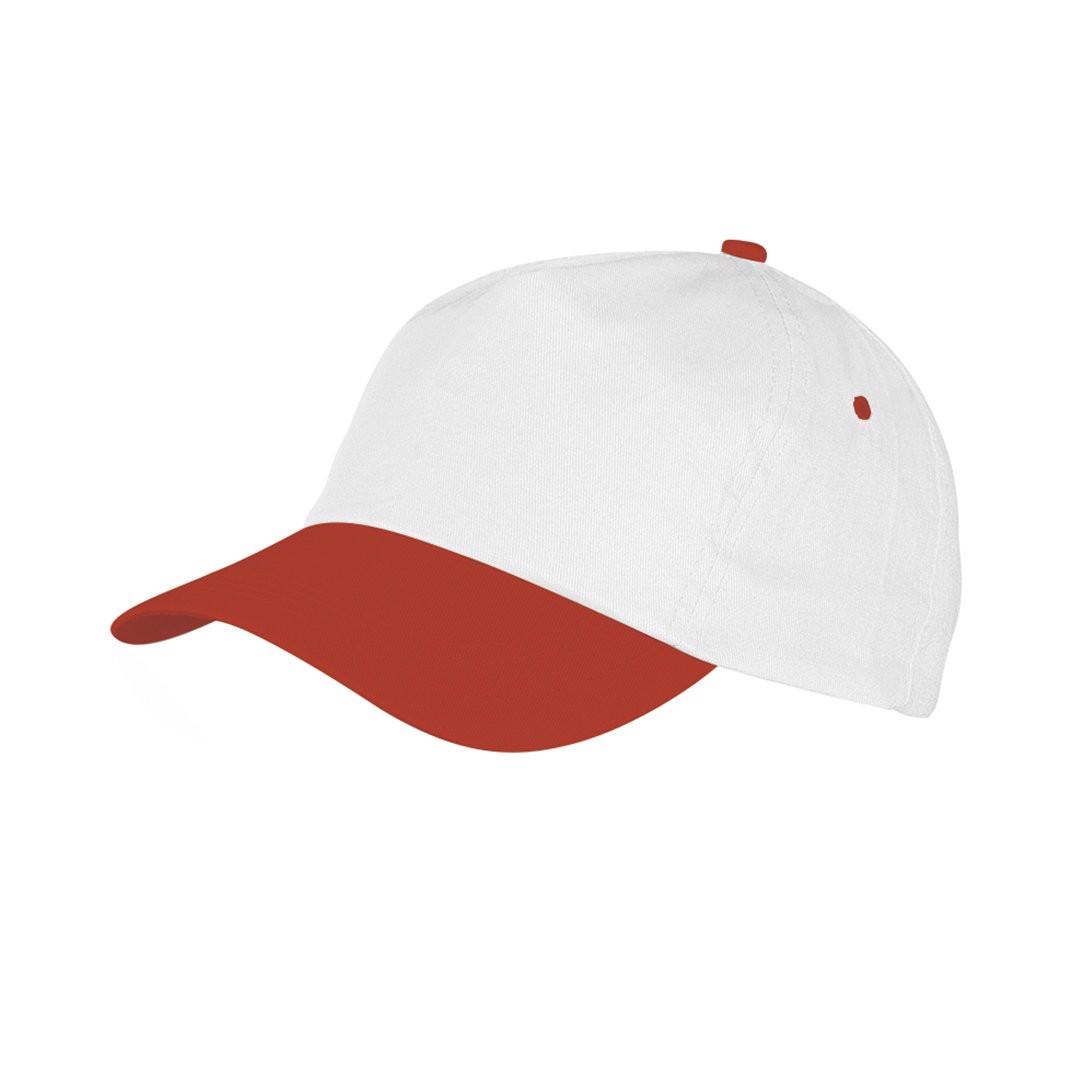 Gorra Sport - Blanco / Rojo