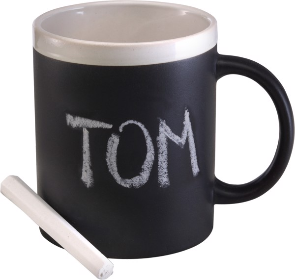 Ceramic mug - Black / White