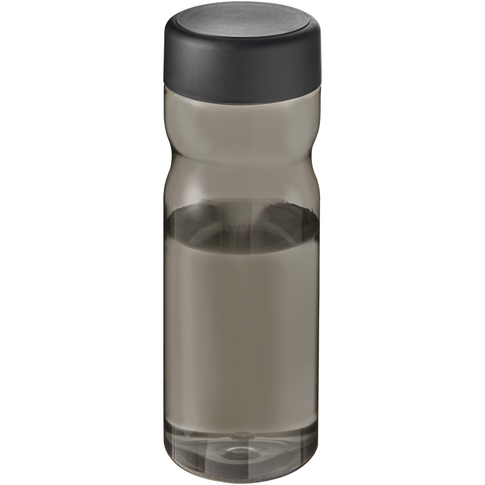 H2O Eco Base 650 ml screw cap water bottle - Charcoal / Solid Black