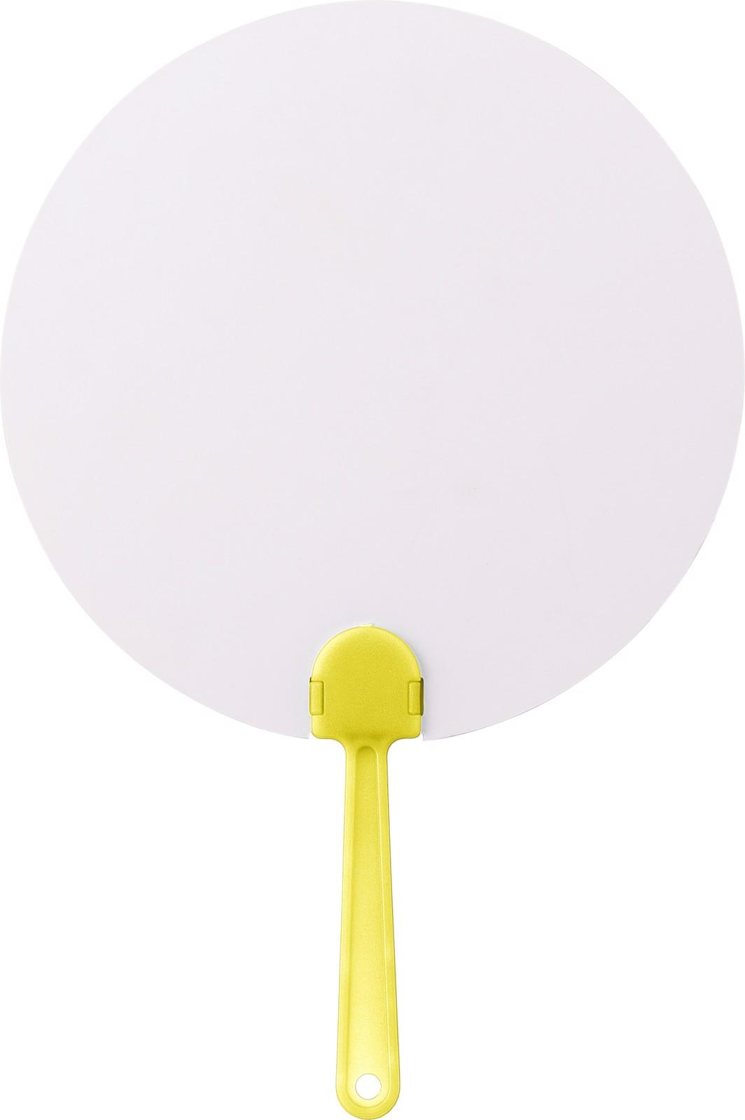 Paper hand fan - Yellow