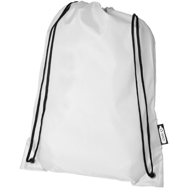 Oriole RPET drawstring backpack - White