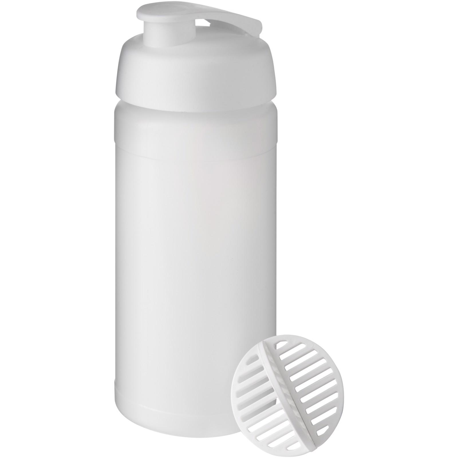 Baseline Plus 500 ml shaker bottle - White / Frosted clear