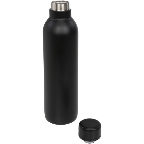 Thor 510 ml copper vacuum insulated sport bottle - Solid black
