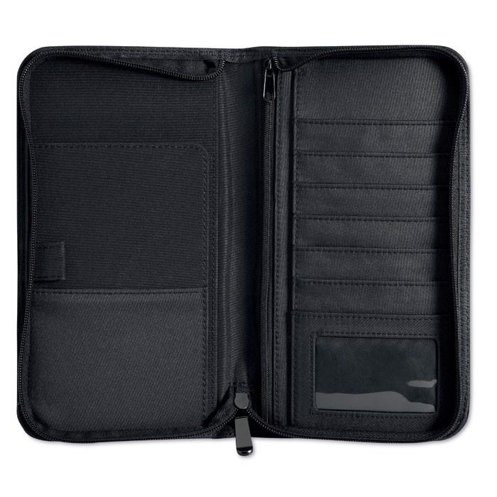 Micro fibre travel wallet Cas