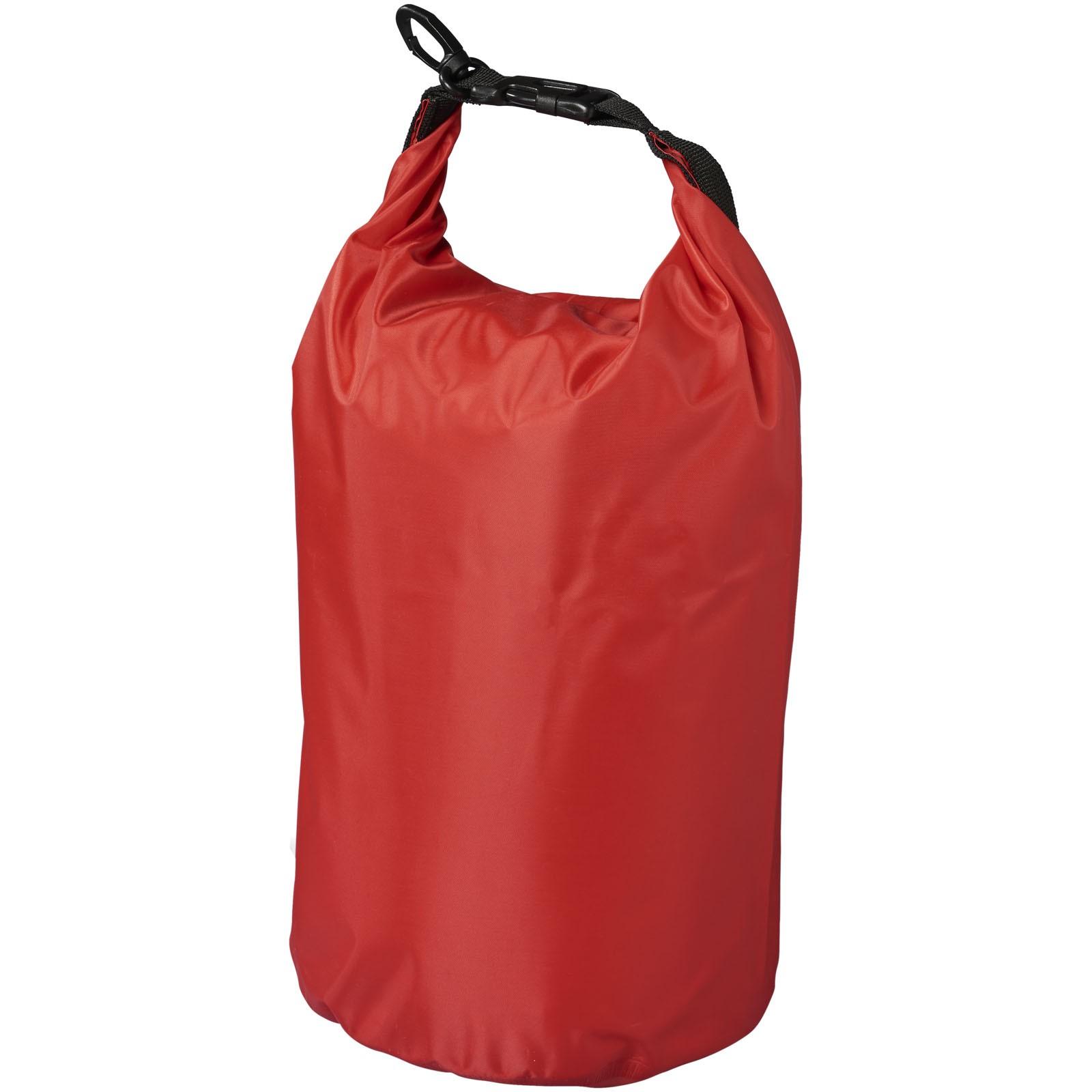 Nepromokavý vak Camper, 10 l, outdoorový styl - Červená s efektem námrazy