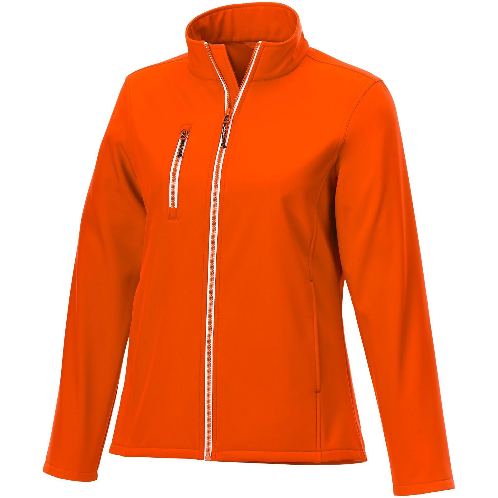 Orion women's softshell jacket - Orange / XS