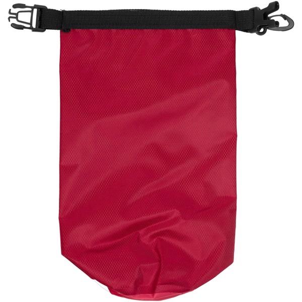Nepromokavý vak Tourist, 2 l, outdoorový styl s pouzdrem na telefon - Červená s efektem námrazy