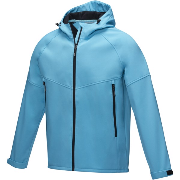 Coltan men's GRS recycled softshell jacket - Nxt Blue / XS