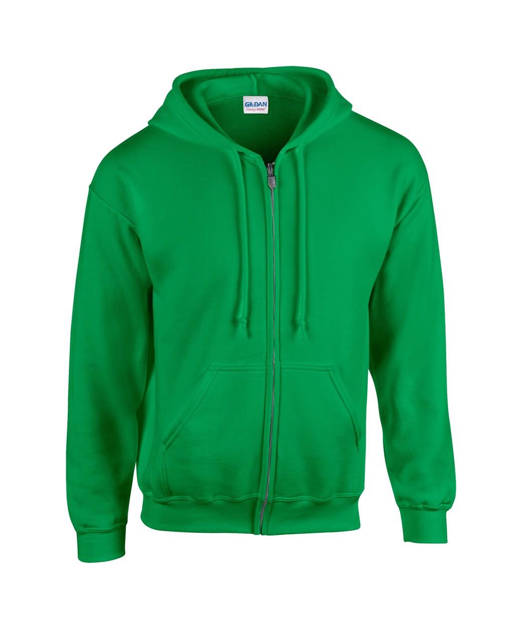 Mikina HB Zip Hooded - Středně Zelená / M