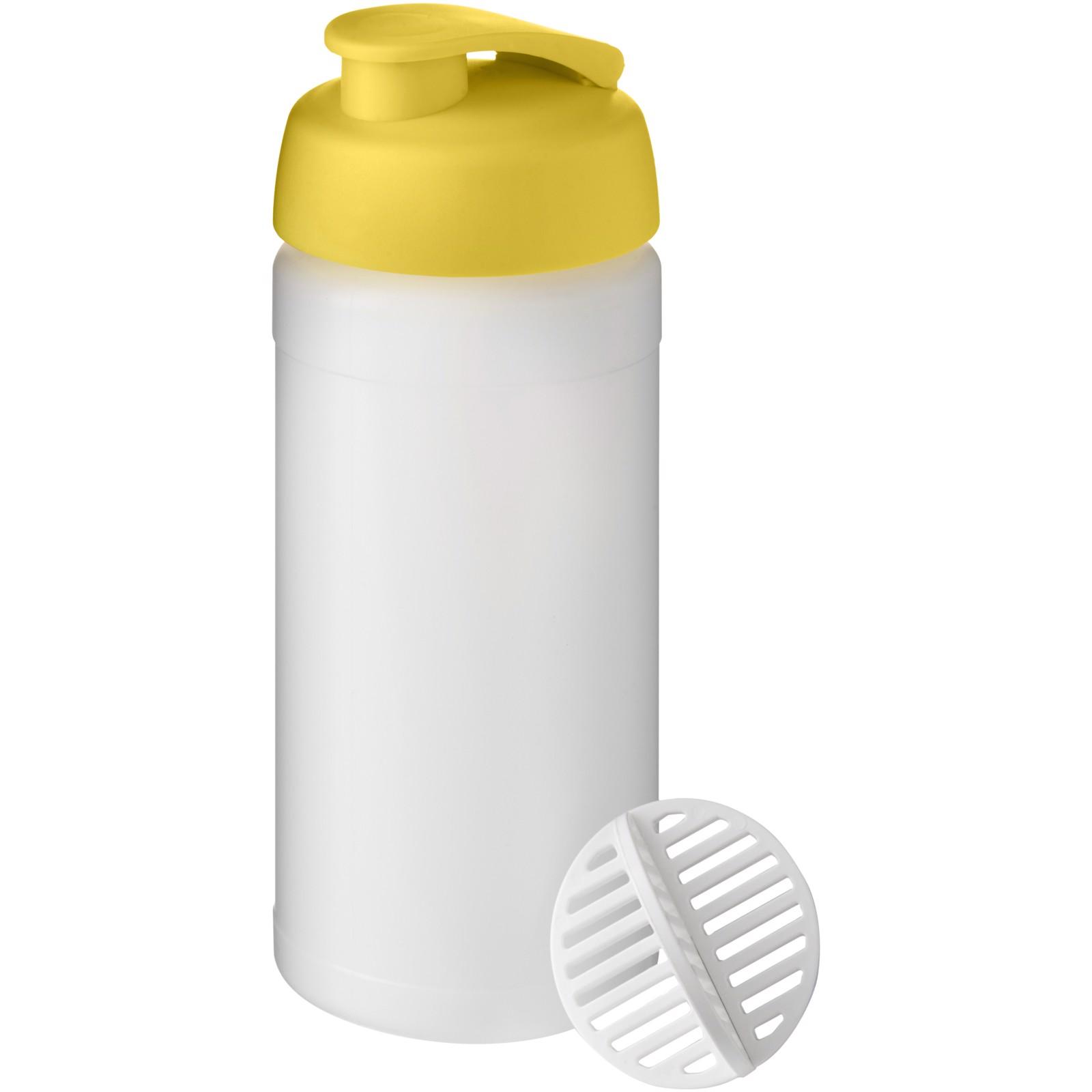 Baseline Plus 500 ml shaker bottle - Yellow / Frosted clear